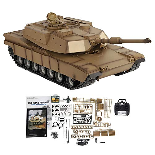 Remote Control Tank, 1:/16 Scale M1A2 2.4GHz Electric RC Tank Model with Rotating Turret & LED Light & Sound Effects…