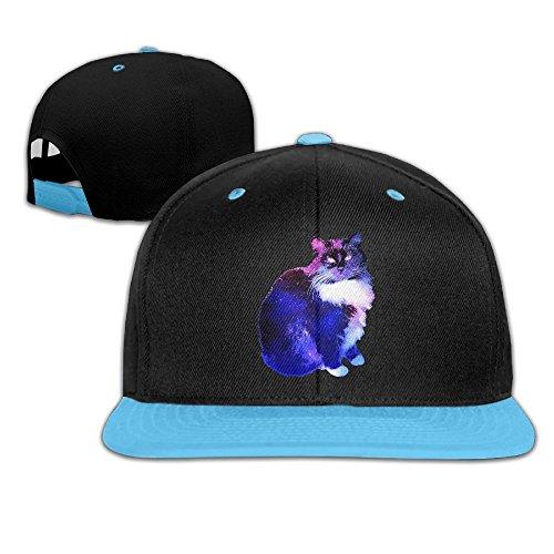 Grumpy Cat Meme Costume (Kids Boy's & Girl's Starry Night Sky-cat Outdoor Hip Hop Leisure Cotton Sanpback Cap Hat Adjustable)