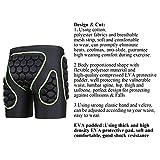 OHMOTOR 3D Padded Protective Shorts Hip Butt EVA