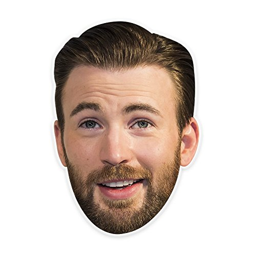 Unwelcome Greetings Silly Chris Evans Mask, Perfect for Halloween, Masquerades, Parties, Festivals, Concerts - Jumbo Size Waterproof -