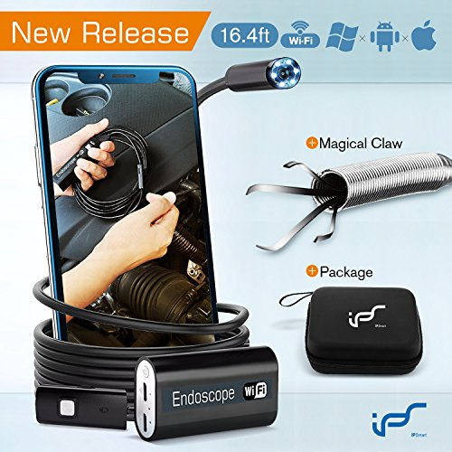 IPS IP Smart Endoscope Camera Android Waterproof WiFi Inspection Camera Wireless iPhone 2.0MP USB Endoscope...
