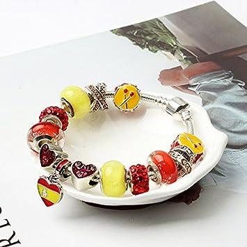 Tangyongjiao Moda y Belleza World Cup Souvenir Bracelets Pulsera de aleación Americana, tamaño: 18 cm Pulseras y broches (Color : Color7): Amazon.es: Electrónica
