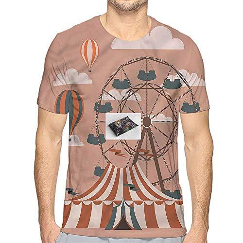 Comfort Colors t Shirt Circus,Ferris Wheel Hot Air t Shirt M ()