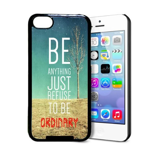 Refuse To Be Ordinary Inspirational Hipster Quote iPhone 5c Case - Fits iPhone 5c
