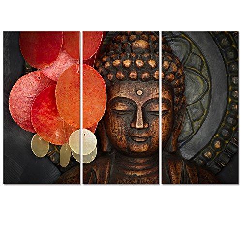 Buddha Canvas Wall Art Wood Buddha Statue Canvas Prints Keep inner Peaceful Buddha Artwork for Living Room Yoga Room (32