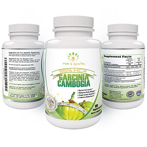 Garcinia Cambogia 85% HCA ULTRA STRENGTH -100% NATURAL Extract-WEIGHT LOSS Supplement