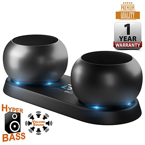 Bluetooth Speakers,a Pair of 3w mini Bluetooth Speaker with the TWS Tecnology,Wireless Portable Small Bluetooth Speaker system for Men, Women, Adults, Kids, Boys, Girls, Teens - Black.