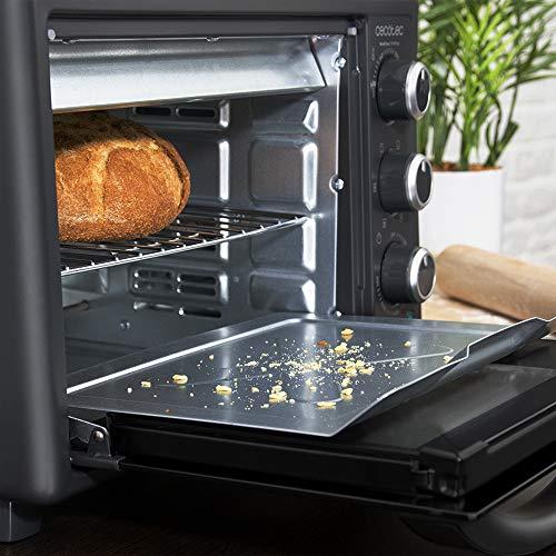 Cecotec Horno Sobremesa con piedra para pizza Bake&Toast 570 4Pizza. 1500 W, Horno eléctrico multifunción de sobremesa…