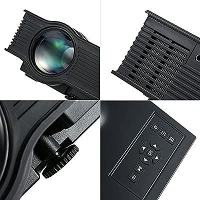 Andoer® UC40 + Proyector LED Portátil 800 Lumens 800 : 1 Relación ...