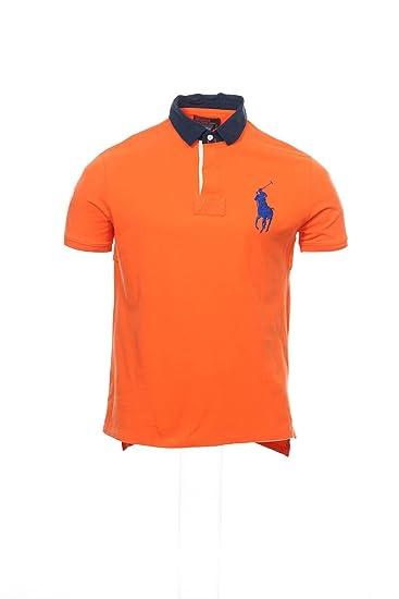 64166b75257 Ralph Lauren Polo Orange Heather Polo Shirt Golf