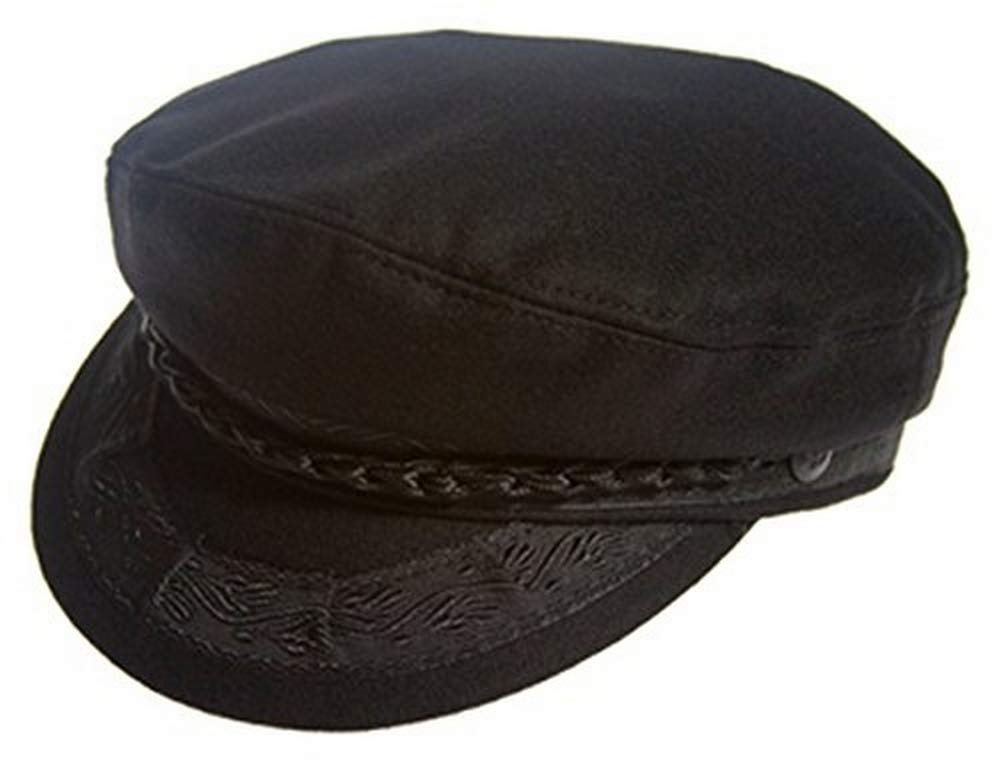 Aegean Authentic Greek Fisherman's Cap - Wool - Black - Size 54 - (6 3/4) by Aegean