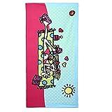 Bath Towel 1Pc Absorbent Microfiber Summer Girl Print Beach Towel Sunscreen Shawl Wrap Showering Wipe Towel