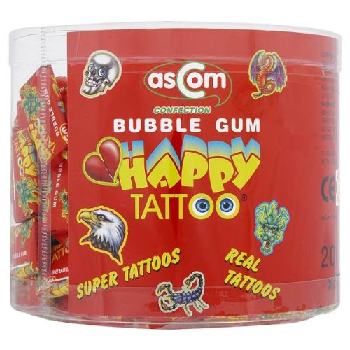 Ascom Confection Bubble Gum Happy Tattoo x200