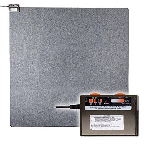 "Radiant Floor Heater Under Rug: Portable Pad for Indoor Personal Office Desk Space Heat, Quiet Heated Electric Area Mat Auto Shut Off, 500 Watt Energy Efficient Hot Carpet by Woo Warmer, 69.5"" x 69.5"""