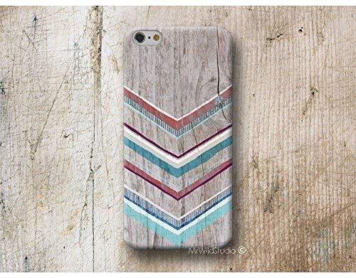 Funda Madera Print Chevron Boho para iPhone 4 5 5s SE 6 6s 7 Plus Samsung Galaxy s8 s7 s6 s5 A5 A3 J5... Huawei LG Moto Oneplus Sony HTC ....