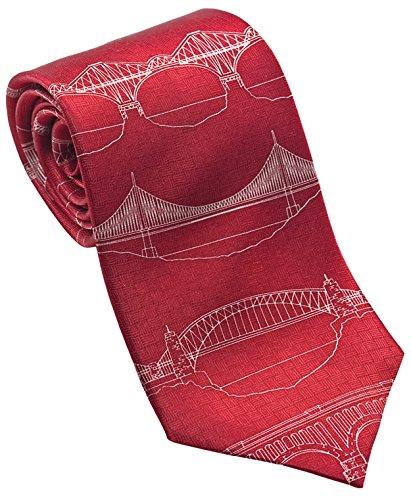 Josh Bach Bridges Blueprint Necktie product image