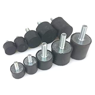 Inch Size 1.38 Diameter 1.00 Height J.W 1.00 Height Pack of 5 1.38 Diameter JW Winco 351.2-35-25-5//16-55 Series GN 351.2 Rubber Cylindrical Vibration Isolation Mount with 1 Tapped Hole and 1 Threaded Stud Winco Inc. 5//16-18 Thread