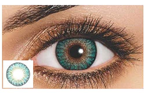 New Look Eyes Multi-Color Contact Lenses Eyes Cute Colored Charm and Attractive Blends Cosmetic Makeup Eye Shadow (Turquoise)
