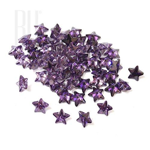Be You Améthyste Couleur Zircone Cubique AAA Qualité Diamant Coupe d'étoile Forme gemme