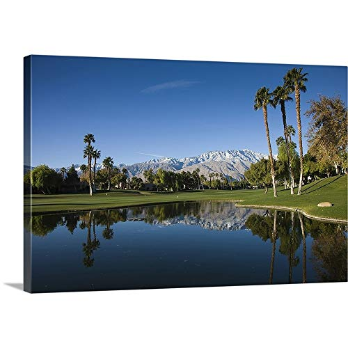 GREATBIGCANVAS Gallery-Wrapped Canvas Entitled Desert Princess Country Club, Palm Springs, Riverside County, California by 18