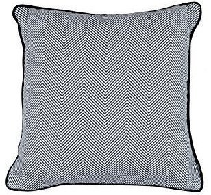 McAlister Aztec Herringbone Twill XX-Large Euro Sham Pillow Cover | 26x26 Black and White | 100% Cotton Geometric Funky Moroccan Tribal Accent Décor