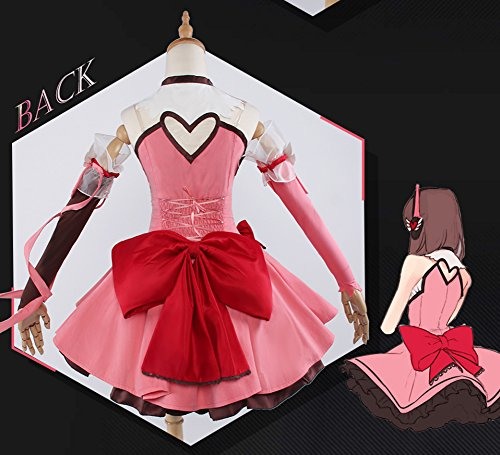 Yunbei Magic Girl Dva Cosplay Costume Hana Song Pink Lolita Dress Halloween Dress (M, Pink)