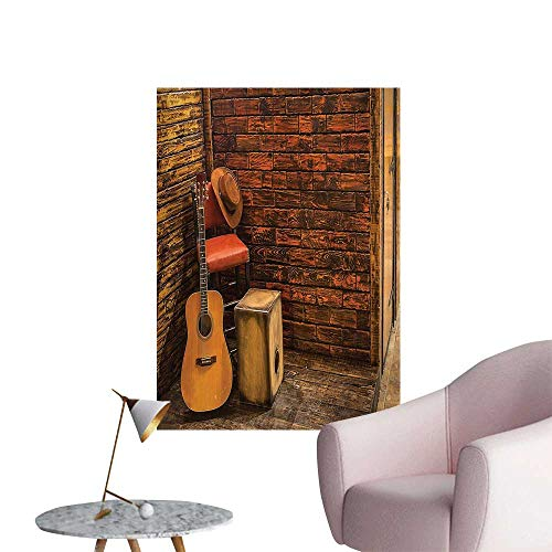 Ridge Pub Table - Wall Stickers for Living Room Music Instruments Wooden Stage in Pub verage Cafe Counter Bar Drum Bathroom Vinyl Wall Stickers Print,12