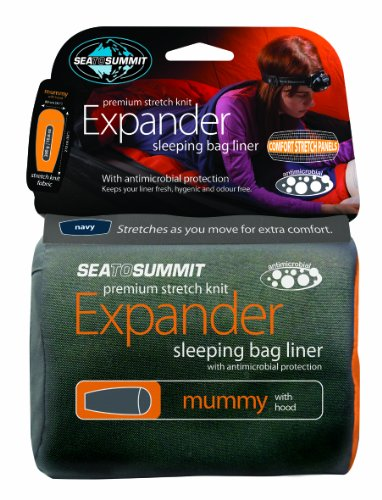 Sea To Summit Expander Travel Liner - Eucalyptus Green Mummy with Hood