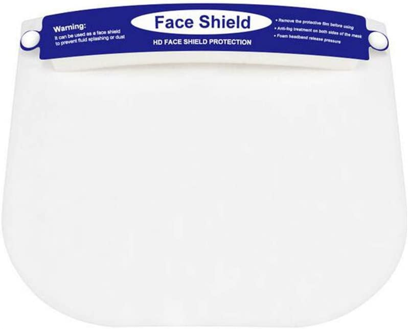 US Stock One Size Fits All Ultra-Clear Luckylin Reusable Kids Face/_Shields,Protective Full Face Transparent Visor,Anti-Fog