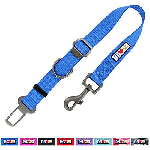 Pawtitas Dog Seat Belt with Restraining Strap for Pet Carrier Adjustable Strap Dog Training Puppy Training Blue Dog Seat Belt