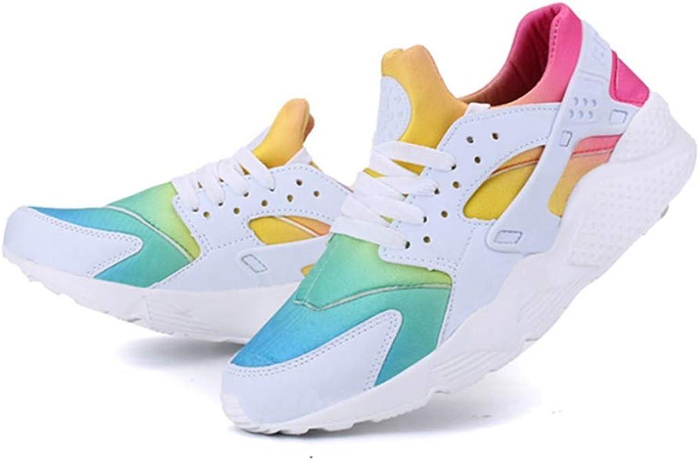 Zapatillas de Deporte para Hombre Mezclar Colores Zapatillas Bajas Resistentes Zapatillas Deportivas Transpirables de Verano para Correr: Amazon.es: Zapatos y complementos