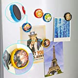 Yalis DIY Refrigerator Magnets, 12 Pack Changeable