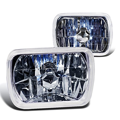 Spec-D Tuning LH-7X6 7X6 H4 Lamps Chrome Crystal Head Lights Set Universal