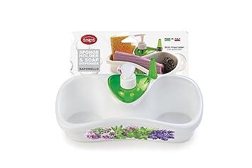 Porta Spugne Da Bagno : Snips saponello portaspugne da lavello con dosatore sapone