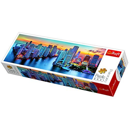 Trefl 29027 Panorama Miami after dark Puzzle (1000Piece) by Trefl
