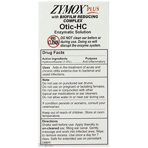 hot sale Zymox Plus Otic-HC Enzymatic Ear Cleaner Solution, 1.25 Oz RED