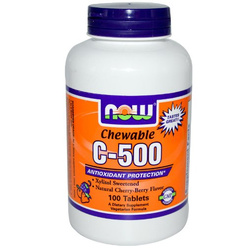 Vitamin C 500 Cherry Chewable Tablets