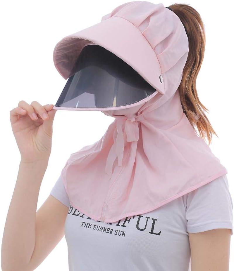 Protector Facial, protección UV Cuello Facial Sombrero de Sol de Verano Sombrero de Pesca a Caballo Sombrero de protección para el Verano Deportes al Aire Libre Ciclismo Correr Pesca Antipartículas