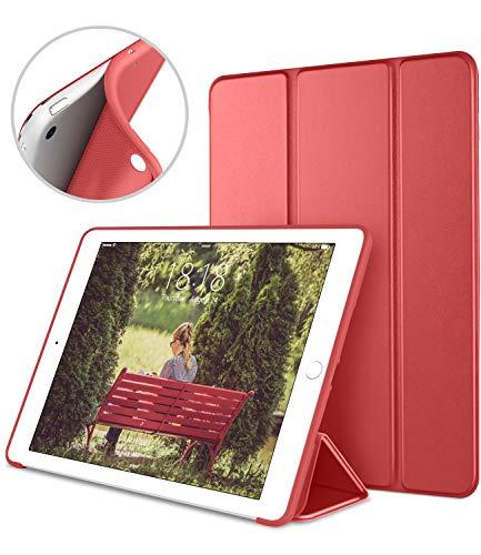 DTTO iPad Mini Case for iPad Mini 3/2 / 1, Ultra Slim Lightweight Smart Case Trifold Cover Stand with Flexible Soft TPU Back Cover for iPad Apple Mini, Mini 2, Mini 3 [Auto Sleep/Wake],Red