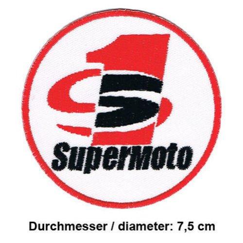 SUPERMOTO Motorrad motorcycle Motorsport Moto GP Formula 1 F1 Racing Race jacket t shirt Polo Patch Sew Iron on Embroidered (Jacket Supermoto)