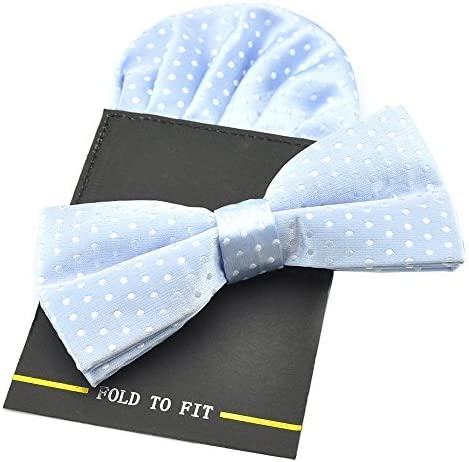 para esmoquin con lunares varios colores ajustable Pajarita pre-atada y pa/ñuelo para bolsillo de PenSee