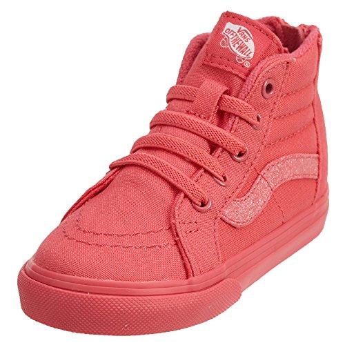 (Vans Toddler T SK8 Hi Zip Foil Stars Pink Size 5)