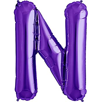 Amazoncom letter a purple helium foil balloon 34 for Foil letter balloons amazon