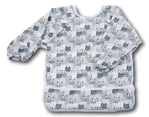 Waterproof Baby Toddler Bib Cotton Adjustable Snaps Infant Children's Long Sleeved Bib 6 Months - 8 Years by AllSome Baby