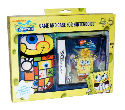 Nds Case (Spongebob Atlantis Squarepantis NDS Game and Sakar NDS Case)