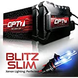 OPT7 Blitz Slim H11 H8 H9 HID Kit - 3.5x Brighter - 4x Longer Life - All Bulb Sizes and Colors - 2 Yr Warranty [6000K Lightning Blue Xenon Light]
