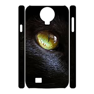 Customized Durable Case for SamSung Galaxy S4 I9500 3D, Black Cat Phone Case - HL-R636746