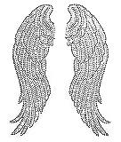 Large Angel Wing Rhinestone Iron on Hotfix Transfer bling- 10'' By 14''