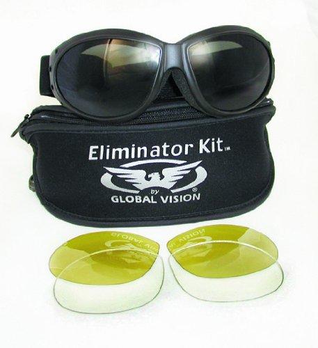 Eliminator Kit-2, Smoke-Clear-Yellow Lenses (Cglasses)