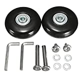 HITSAN OD 55mm Luggage Suitcase Replacement Wheels Axles and Rubber Repair 2 Set One Piece